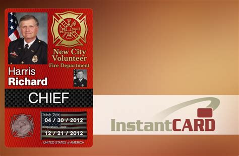 secure durable police id cards firefighter