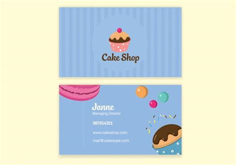 Blue Bake Shop Business Card Vector Business Cards And Letterhead Design Simple Black Credit With Best Cash Back On Paper New Price Online The Artist Alley