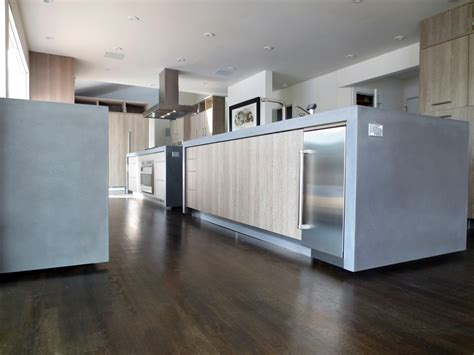 contemporary kitchen islands this is contemporary kitchen with two concrete island