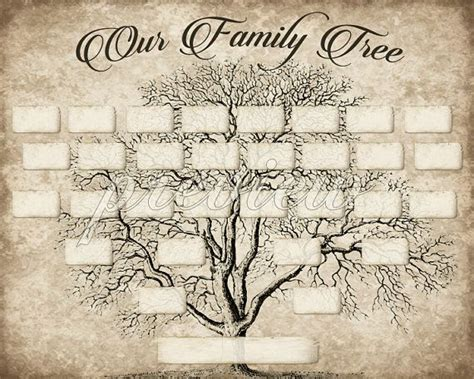 custom family tree printable  generation template