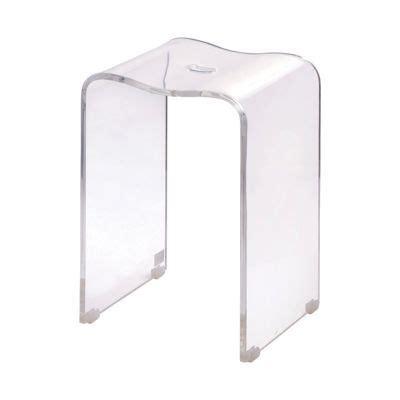 tabouret de salle de bains transparent castorama