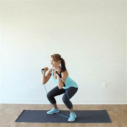 Resistance Bands Band Squat Workout Exercise Press