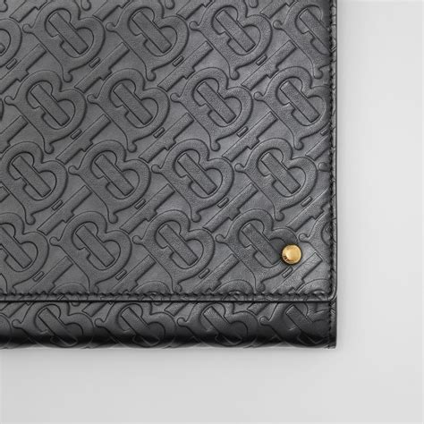 small monogram leather bag  detachable strap  black