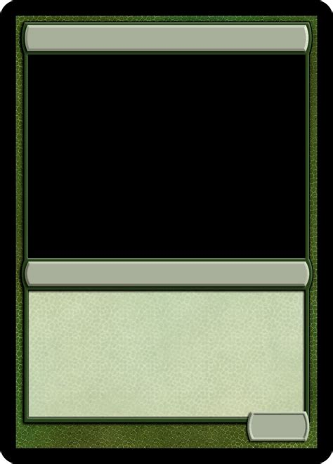 mtg proxy template mtg monogreen creature template magic proxies