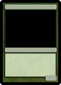 mtg monogreen creature template magic proxies pinterest With mtg proxy template