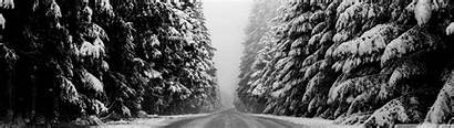 Winter Road Dual Monitor Wallpapers Wide Ultra