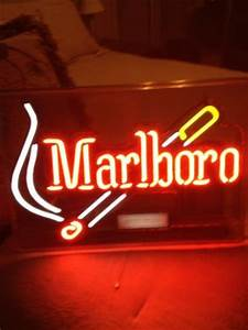 Marlboro sign Wish I could have this hangin in my room