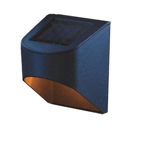 deck impressions  pack na  watt black solar led step