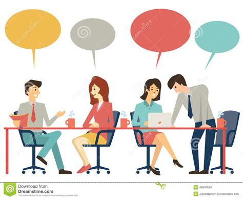 Table De Discussion Illustration De Vecteur. Illustration