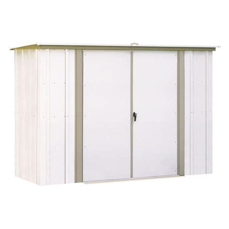 Metal Storage Shed Home Depot by Arrow Sheds Storage 8 Ft X 3 Ft Metal Garden Shed Gs83