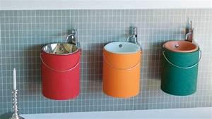 Lave Main Original : un lave mains cylindrique pour mes toilettes ~ Edinachiropracticcenter.com Idées de Décoration