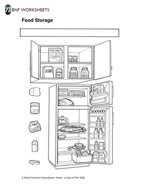 food storage worksheet by foodafactoflife teaching