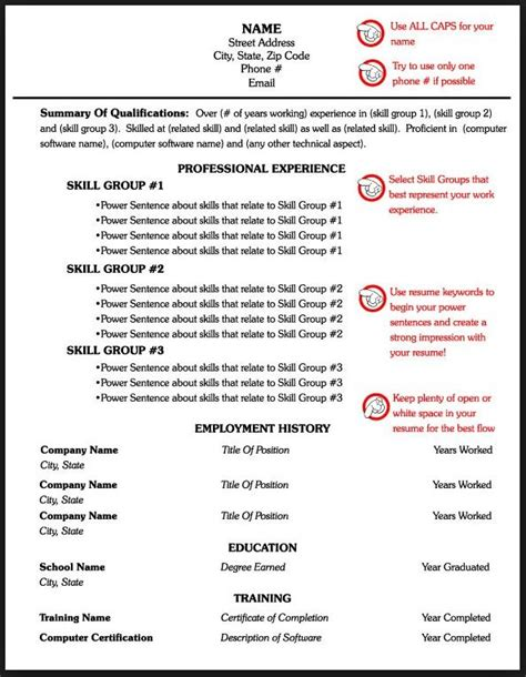 Page Layout For Resume by Technical Skills Section Of Resume Resume One Page