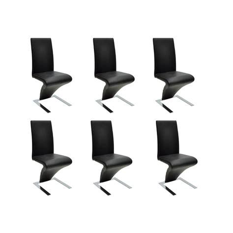 chaise lot de 6 la boutique en ligne lot de 6 chaises noir vidaxl fr