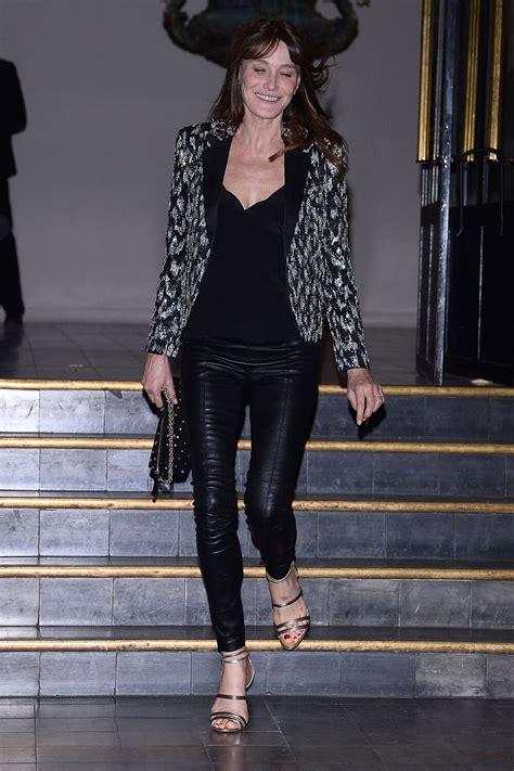 carla bruni attends vogue paris foundation gala leather