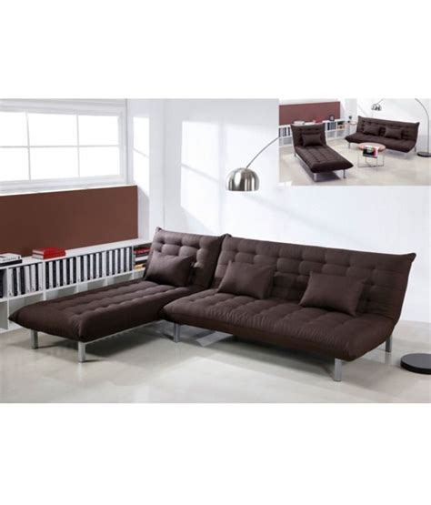 L Shape Sofa Beds by L Shaped Sofa Bed In Brown Buy At Best Price