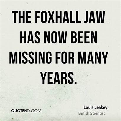 Jaw Missing Leakey Louis Foxhall Been Many