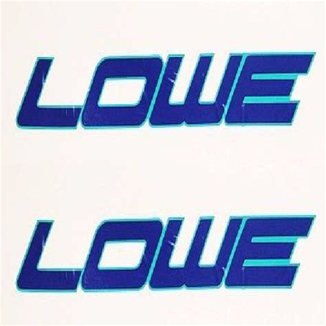 Lowe Boats Decals by Lowe Teal Navy Blue 27 X 4 1 2 Inch Boat Decals Pair