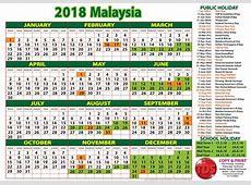 2018 Calendar Malaysia Kalendar 2018