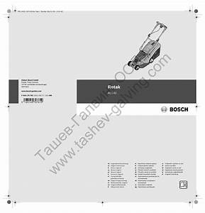 Bosch Rotak Original Instructions Manual Pdf Download