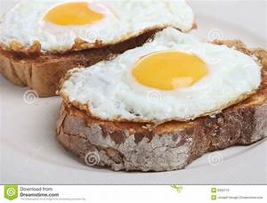 Fried Eggs on Toast stock image. Image of dairy, toast ...