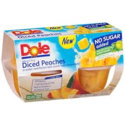 dole fruit snacks dole no sugar added yellow cling diced fruit cups