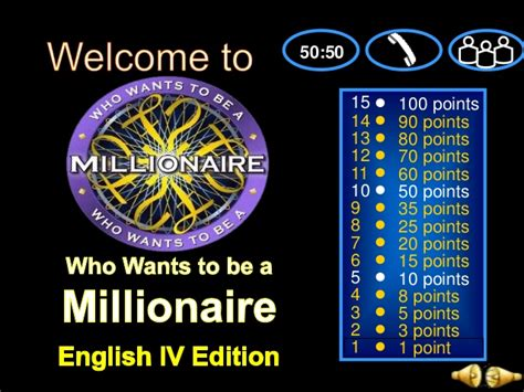 verb tenses powerpoint game      millionaire