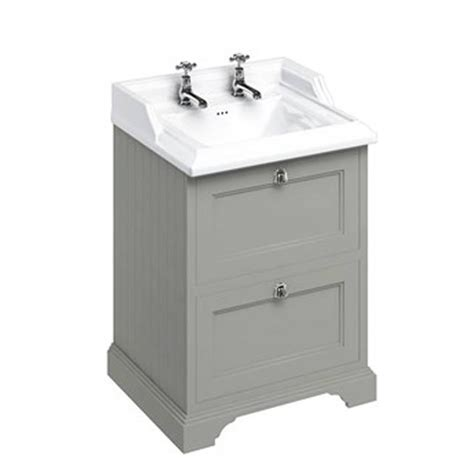 burlington olive mm freestanding vanity unit