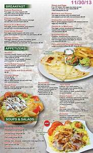 Menu design for Lina's Mexican Restaurant Las Vegas ...