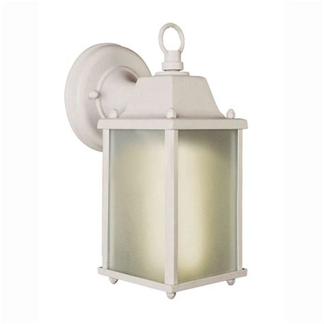 bel air lighting 1 light white outdoor wall coach lantern with frosted glass pl 40455 wh the