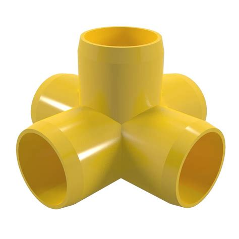 Formufit 12 In Furniture Grade Pvc 5way Cross In Yellow