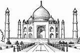 Taj Mahal Coloring Southern Colouring Pages Netart Bar sketch template
