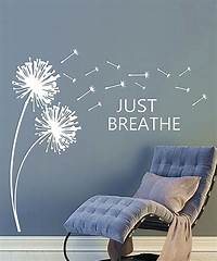 perfect dandelion wall decals This 'Just Breathe' Dandelion Wall Decal by DecorDesigns is perfect! #zulilyfinds | zulily ...