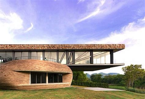 Cantilever House Located In Thailand Designed By