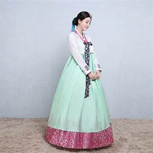 new embroidered hanbok traditional korean clothing long With hanbok wedding dress