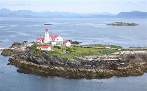 green island lighthouse british columbia canada