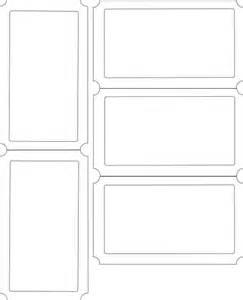 Blank Ticket Template Clip Art