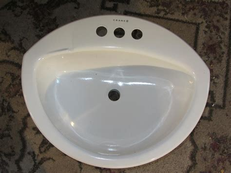 crane coronette bathroom sink    enameled steel