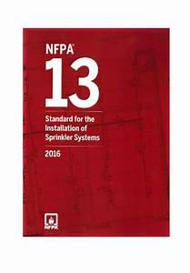 Nfpa 13 Standard Installation Sprinkler Systems Handbook 2016 Edition