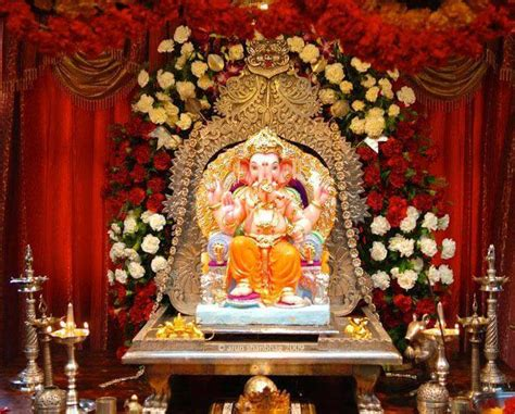 buy  fresh flowers  ganpati decoration