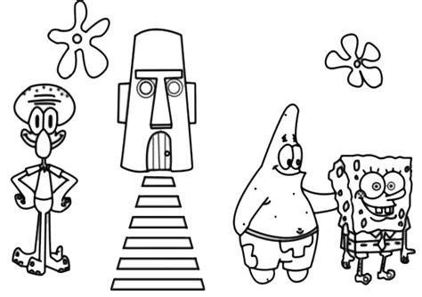 spongebob  ausmalbilder und basteln mit kindern