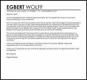 grievance letter letters livecareer With grievance appeal letter template