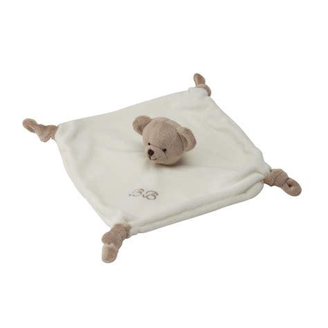 chambre bebe ourson doudou enfant ourson en velours blanc beige 23 x 23 cm