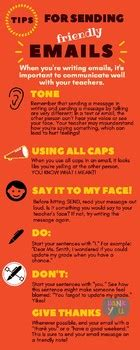 email etiquette infographic  kids  ashly garris tpt