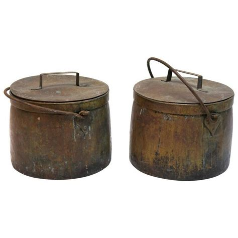 copper pots for cooking two 19th century copper cooking pots for sale at 1stdibs