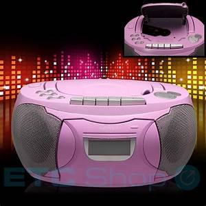 Radio Mit Cd Spieler : stereo cd spieler mit radio und kassettendeck in pink ~ Jslefanu.com Haus und Dekorationen