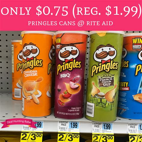 Only 075 Regular 199 Pringles Cans Rite Aid Deal