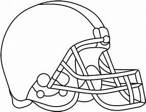football helmet stencil clipartsco With football cutout template