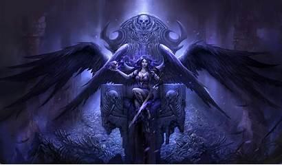 Angel Gothic Anime Warrior Purple Wings Fantasy