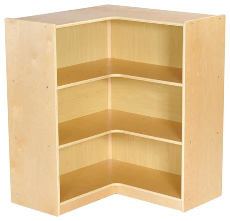 "Birch 36"" Corner Storage Unit, Natural  Contemporary"